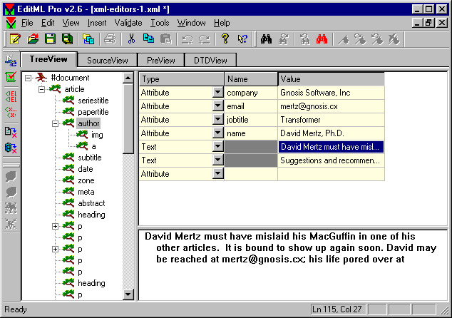 Screenshot of the EditML Pro